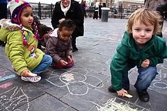 Una escuela de niños y niñas