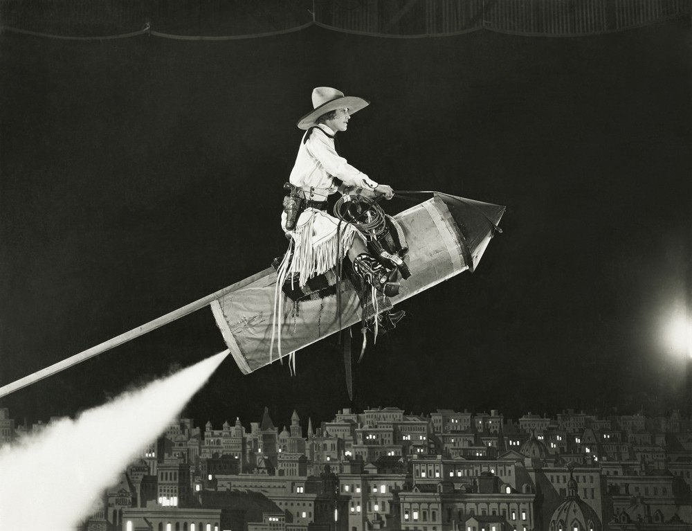 cowgirl on a rocket