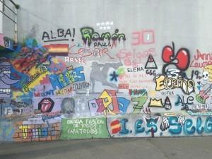 Grafiti en el Patio